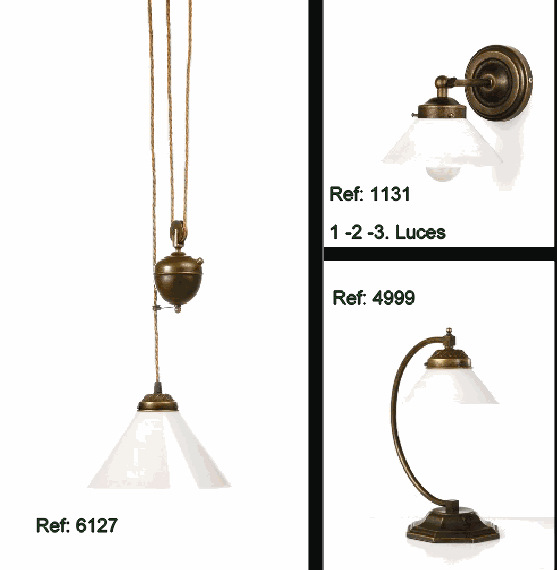 fabricante iluminacion rustico: